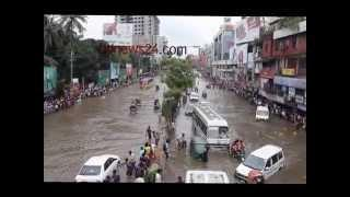 Waterlogging strike Dhanmondi Dhaka